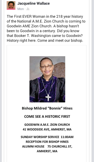 Bishop Hines visits Goodwin